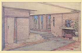 Henry J.Allen House,Wichita,Kansas,1917. Copyright 2010 Frank Lloyd Wright Foundation. All rights reserved.