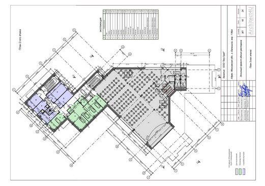 Планировочная схема здания
