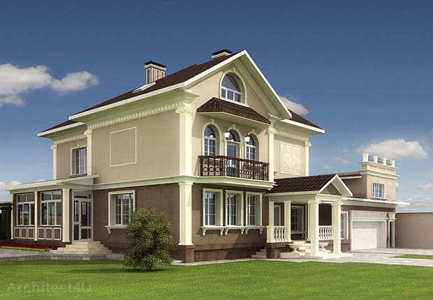 фасад классического дома