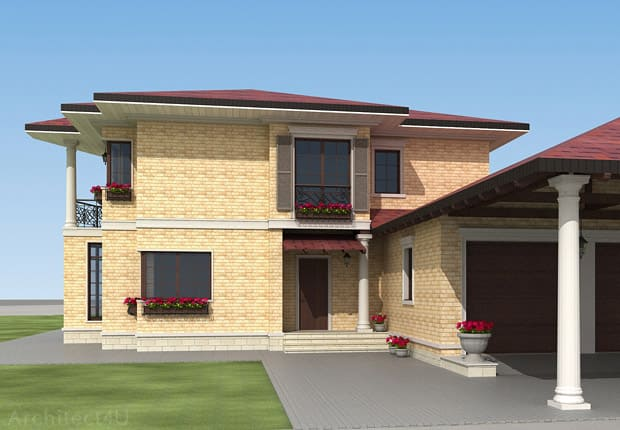 фасад дома в итальянском стиле