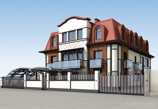 фасады дома и решение ограждения в куркино москва