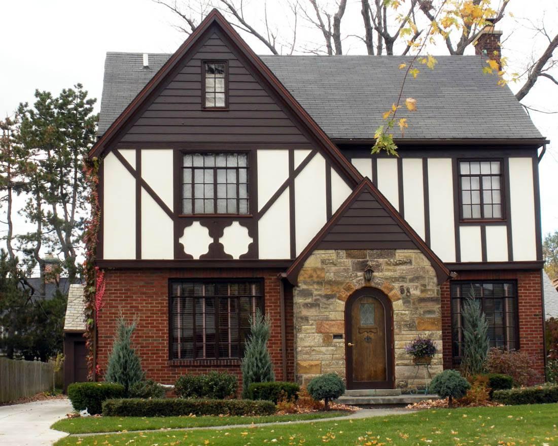 дачный дом в английском стиле фото здания заднем