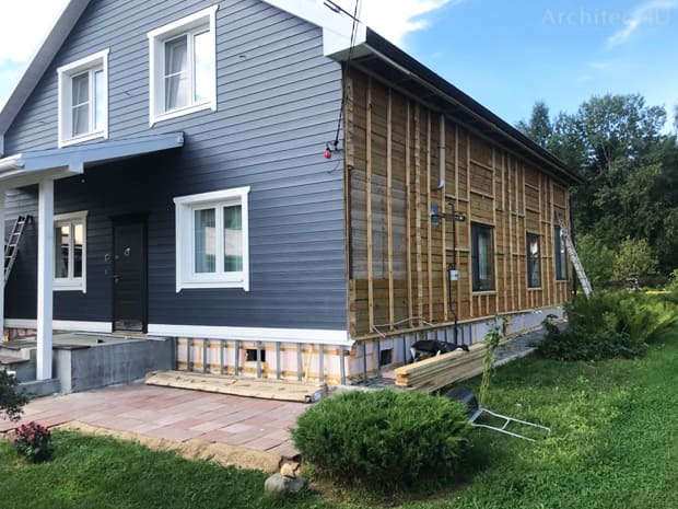 фото реализации отделки фасадов в залесье