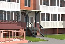 34 - вход через балкон