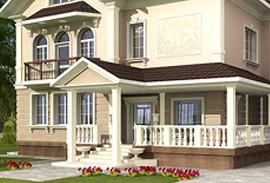38 - вход в дом в классическом стиле