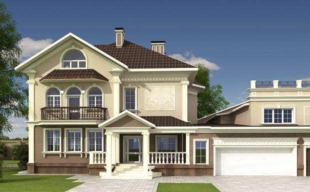 дизайн входа дома в классическом стиле