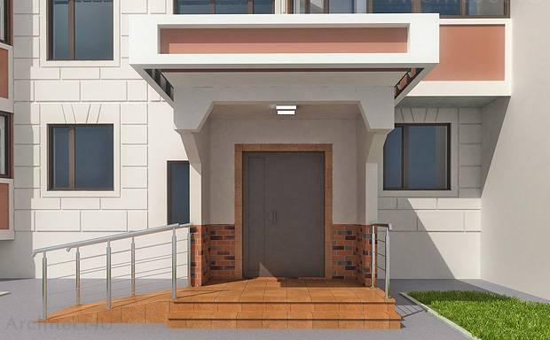 дизайн подъезда жилого многоквартирного панельного дома