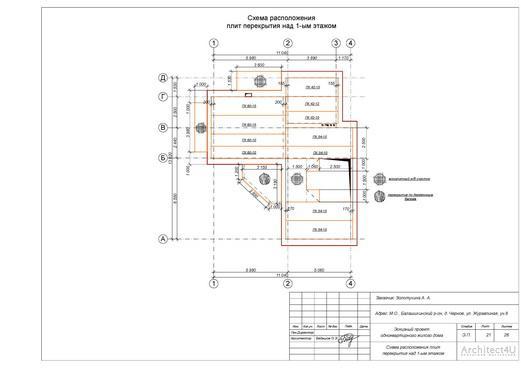 схема расположения плит