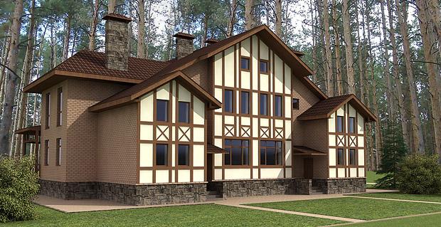 3d дома задний фасад